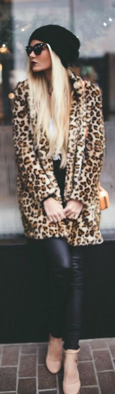 Chic In The City #Faux #Fur #Leopard by Barefoot Blonde