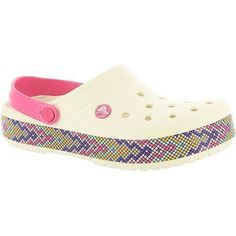 Crocs Crocband Gallery Clog Women's Bone Slip On (150 RON) ❤ liked on Polyvore featuring shoes, clogs, bone, slip-on shoes, crocodile shoes, slip on clogs, crocodile print shoes and clogs footwear #crocsshoesclogswoman #crocsshoesclogsslipon #womenclogsfootwear