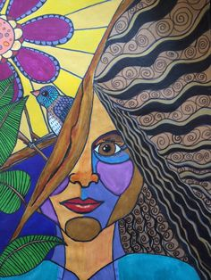 """inner goddess self portrait"" Signed numbered prints: $180 - 375 matted and framed. https://www.etsy.com/shop/aSoulFullofArt"