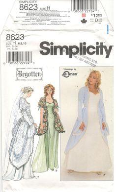Simplicity 8623 Size 6 8 10 Women's renaissance /