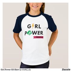 Girl Power GS Shirt - comes in adult too Scout Mom, Girl Scout Swap, Girl Scout Leader, Daisy Girl Scouts, Girl Scout Troop, Girl Scout Daisy Activities, Girl Scout Crafts, Brownie Girl Scouts, Girl Scout Cookies