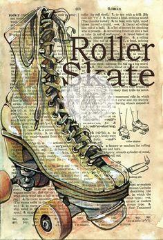 flying shoes art studio: ROLLER SKATE