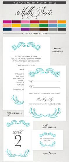 free wedding printables, our most popular printable post of 2013 #freeprintables #printableinvitations http://www.weddingchicks.com/2013/05/14/rustic-fall-wedding-ideas/