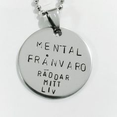 Mental frånvaro Räddar mitt liv by SMOLK -Handstamped jewelry with a twist Psycadelic Art, Crazy Cookies, Introvert Humor, Hand Stamped Jewelry, Feel Good, Best Quotes, Texts, Improve Yourself, Inspirational Quotes