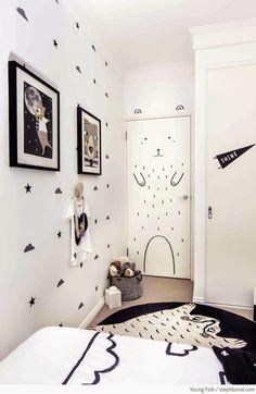 Como decorar habitaciones DE NIÑOS PINTADAS DE BLANCO