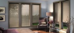 Hunter Douglas - Horizontal Blinds - Natural Elements - Brownstone