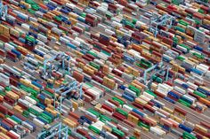 Shipping Containers, Portsmouth, Virginia, USA, 2011. | 22 Stunning Aerial Photos That Reveal A Beauty From Above