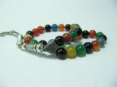 Turkish Islamic 33 Prayer Beads, Tesbih, Agate Beads, Tasbih, Misbaha, Sufi, Worry Beads, Pocket Beads
