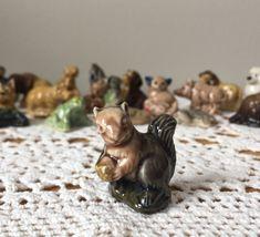 Squirrel - English Wade Red Rose Tea Figurines Red Rose Tea, Vintage Children's Books, Nursery Rhymes, Squirrel, Red Roses, Childrens Books, Craft Supplies, Lion Sculpture, English