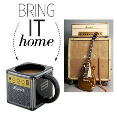 """""""Bring It Home: Amped Coffee Mug"""" by polyvore-editorial ❤ liked on Polyvore featuring interior, interiors, interior design, home, home decor, interior decorating, Dot & Bo and bringithome"""