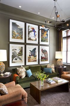 Walton Ford editions of birds make a statement in this Den