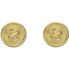 Paul Morelli 18k Gold Button Stud Earrings ❤ liked on Polyvore featuring jewelry, earrings, accessories, yellow gold stud earrings, 18k gold earrings, 18 karat gold jewelry, stud earrings and gold jewelry