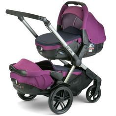 Pram-Jane Twone Tandem & 2 Matrix Light 2 Car Seat (Violet)