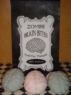 Zombie Brain Bites Sugar Cookies 1DZ by cerassweetshop on Etsy, $24.00