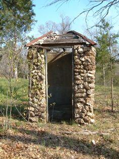 Stonework Outhouse (bring umbrella when raining!)