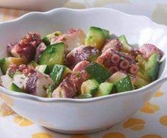 Salada fria de polvo e courgete - bimby