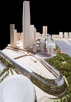 Physical Model West Kowloon 1:500  http://www.wkcda.hk/pe2/en/conceptual/foster/en/physical-models.html