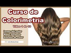 Leyes de Colorimetria , Matiz Perfecto y Estrella de Color- Curso de Colorimetría 1 de 10 - YouTube Hair Color Techniques, Color Theory, Beauty Hacks, Nail Designs, Hair Cuts, Hair Beauty, Long Hair Styles, Youtube, Makeup