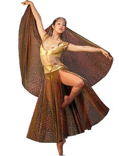 Algy Performance - Love the gold stretch mesh midriff for the illusion of a two piece.