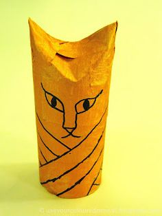 Use Your Coloured Pencils: Egyptian Cat Mummies Ancient Egypt Crafts, Egyptian Crafts, Ancient Egypt History, King Tut Tomb, Morning Cat, Toilet Paper Crafts, Teen Art, Halloween Doodle, Egypt Art