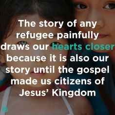 The mission is not a project. The mission is people. #refugees