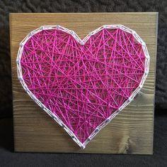 Heart String Art, Love- order from KiwiStrings on Etsy! www.kiwistrings.etsy.com
