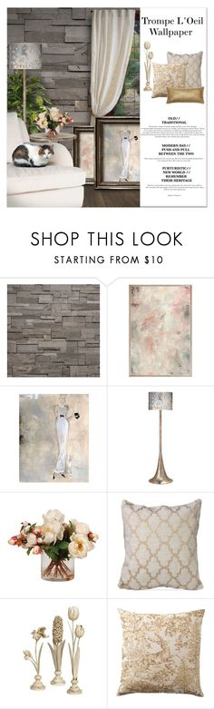 """""""Trompe L'Oeil Wallpaper"""" by signaturenails-dstanley ❤ liked on Polyvore featuring interior, interiors, interior design, home, home decor, interior decorating, Brian Yates, Jamie Young, Zara Home and Homewear"""
