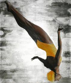 "Saatchi Art Artist Arno Bruse; Painting, ""High Dive"" #http://www.saatchiart.com/smart.art"