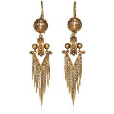 Fred Leighton: Etruscan Revival Fringe Earrings ($9,500) ❤ liked on Polyvore