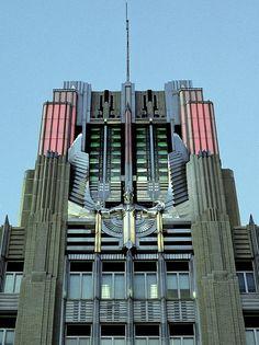 capewolfe-Niagara Mohawk Building, Syracuse, New York. Beautiful Architecture, Architecture Details, Architecture Design, Art Nouveau, Bauhaus, Monuments, Pop Art, Streamline Moderne, Poster Art