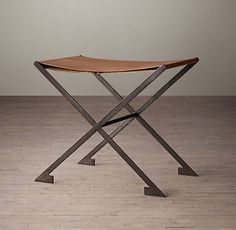 French Deco Leather Luggage Rack - Restoration Hardware - want two of these!