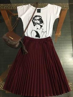Celebrity Casual Outfits, Best Casual Outfits, Retro Outfits, Modest Outfits, Classy Outfits, Skirt Outfits, Modest Fashion, Casual Wear, Fall Outfits
