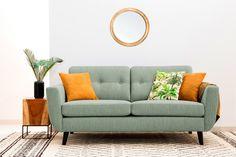 #homedecor #interiordesign #inspiration #sofa #livingroom Sage, Sofas, Love Seat, Minimalism, Couch, Living Room, Interior Design, Green, Modern