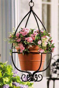 Amazon.com: Hanging Teardrop Metal Planter Holder By Collections Etc: Patio, Lawn & Garden