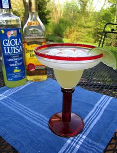 Margarita made with limoncello instead of triple sec.