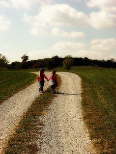 Girls on a country road