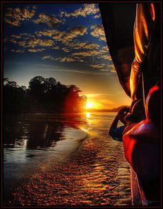 Sunrise Over Amazon, Peru