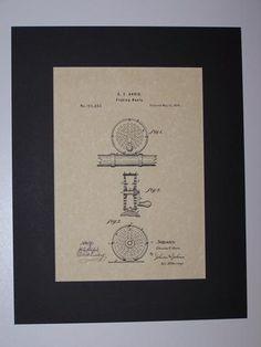 Orvis Fishing Reel 1874 HistoricPatentArt.com Patent drawing