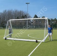 Fitness sports lightweight aluminium freestanding football goalposts 60-80mm OD tubular aluminium freestanding goal posts with optional weight, portable wheel sets and anchors. Sizes from Mini soccer, 5 a side, senior, youth and junior. Heavy duty manufacture suitable for sports centres, schools and universities. Parts always available.