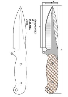 Handcrafted Knife Page 1 Cool Knives, Knives And Swords, Antler Knife, Knife Drawing, Knife Template, Diy Knife, Knife Patterns, Butterfly Knife, Plumbing Tools