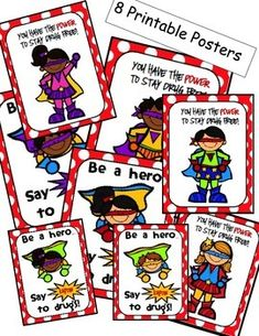 Superhero Themed Red Ribbon Week Posters and Activities Elementary School Counselor, School Counseling, Elementary Schools, Superhero Classroom, Classroom Jobs, Classroom Decor, Drug Free Door Decorations, Red Ribbon Week, Essay Contests