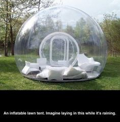 Inflatable lawn tent.