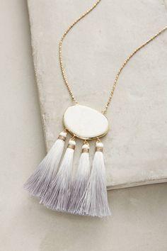 Howlite Tassel Pendant Necklace - I like the ombre tassel