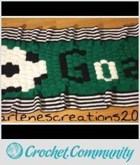 EDITOR'S CHOICE (02/10/2016) Soccer Blanket by CharlenesCreations  View details here: http://crochet.community/creations/4193-soccer-blanket