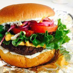 Good Stock Restaurant: vegan cheez burger. So good! #yeg #vegan