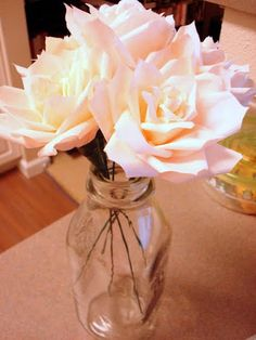 Coffee Filter Rose Tutorial- a modified version of the Martha Stewart tutorial. Because easier is better :-)
