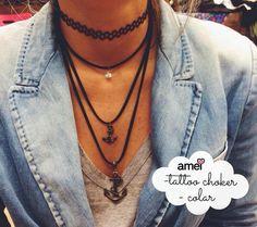 acessórios amados❤️ ️Novidades @loja_amei  #lojaamei #colar #tattoochoker #novidades #muitoamor