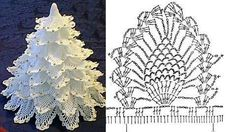 Beautiful Crochet Christmas tree diagram