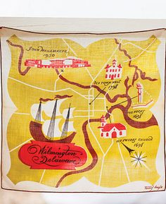 Wilmington Delaware Hankie Map