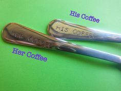 His Coffee Her Coffee Matching Set Hand by TheSmileEmporium